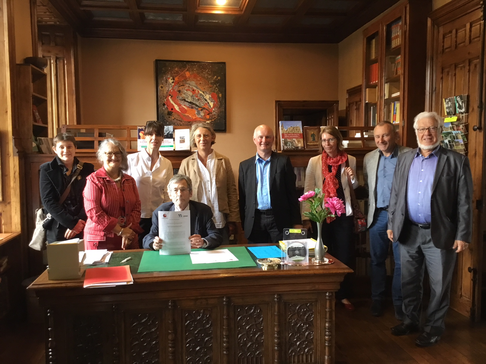 Signature d'une convention avec l'IMEC - 2018