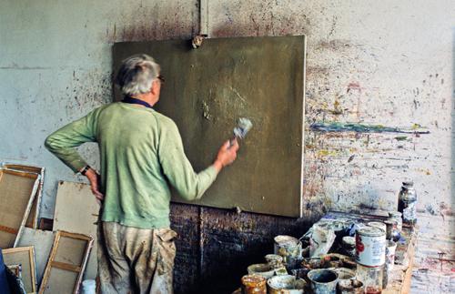 L'atelier de Tal Coat, 1983 © Michel Dieuzaide